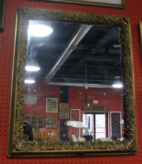 19th Century Gilded Frame As A Mirror.