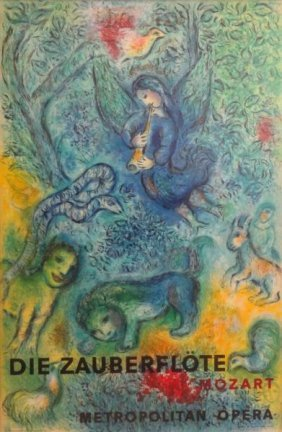 CHAGALL. Magic Flute Lithograph By Charles