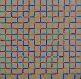 YRISARRY, Mario. 1973-80 Abstract Geometric O/C.