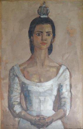 ETTINGER, Stephen. O/C Portrait Of Sandrine