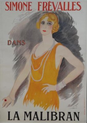 "VERTES, Marcel. Lithograph Poster ""Simone"