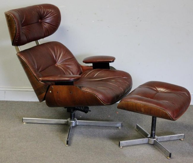 Midcentury selig eames style lounge chair with lot 420 - Selig eames chair ...