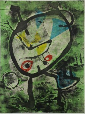 "Miro, Joan. Etching In Colors ""grans Rupestres Ii"""