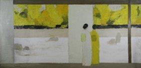 "Cathelin, Bernard. Oil On Canvas ""jardin Zen De"