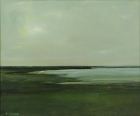 "Packard, Anne. Oil On Canvas ""marsh, Provincetown,"