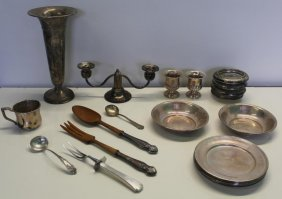 Sterling. Miscellaneous Sterling Hollow Ware And