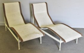 Pair Of Richard Shultz For Knoll Chaise Lounges.