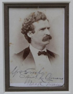 (autographs) Mark Twain Samuel Clemens Signed Cdv