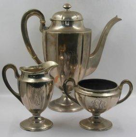 Sterling. F. Novick Arts And Crafts Tea Service.