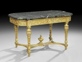 18th C. Louis Xvi Style Giltwood Center Table
