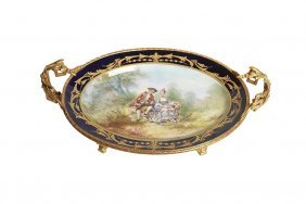 19th C. French Sevres Style Porcelain And Gilt Bronze