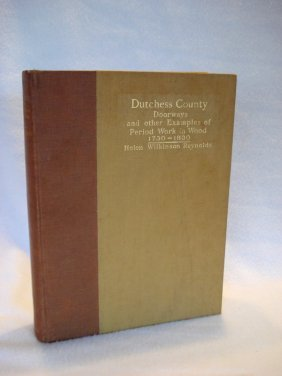 """Book Entitled """"dutchess County Doorways, And Other"""