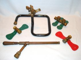 Lot Of Vintage Lawn Sprinkler Items Including An Early