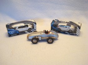 "Lot Of Three Collectible Cars Including A 4"" Schuco"