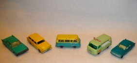 Five Early Basic Model Lesney Cars Including: 1) #70a