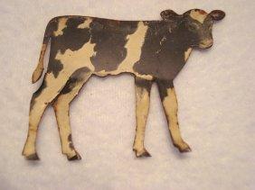 """De-laval Cream Separator Advertising Cow, 2""""h X 2.25"""""""