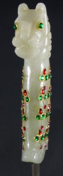Mughal Style Jade Jeweled Dagger