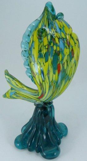 Venetian Murano Vintage Glass Fish Sculpture