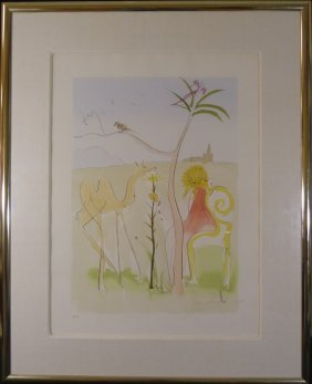 """Salvador Dali """"la Couer De Lion"""" Signed Lithograph"""