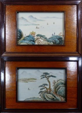 Chinese Hand Painted Porcelain Plaques