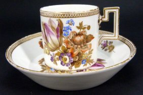 Meissen 1774-1814 Porcelain Cup & Saucer