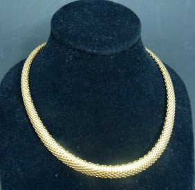 Italian Gold Vermeil Sterling Silver 925 Necklace