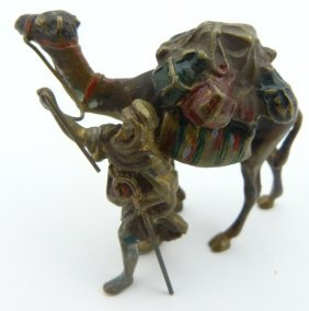 Vienna Bronze Cold Painted Arab And Camel