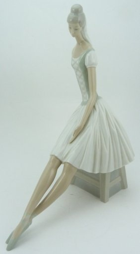 Large Lladro Style Nao Ballerina Sculpture