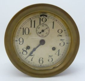Seth Thomas Brass Cased Ships Clock