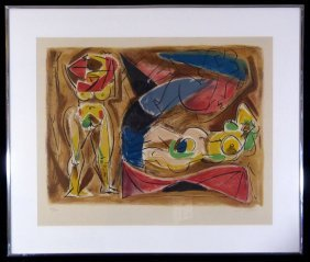 Andre Masson Lithograph Pencil Signed 73/150