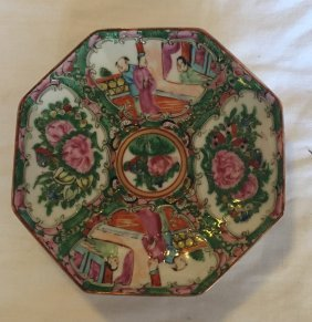 Chinese Rose Medallion Oct. Dish