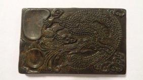 Hand Carved Jade Dragon Inkstone