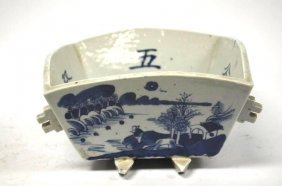 Chinese Blue And White Square Porcelain Dish