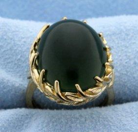 Vintage Nephrite Jade Ring