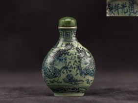 Chinese Antique Porcelain Snuff Bottle