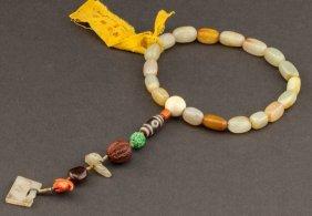19th Chinese Antique Jade Prayer Beads