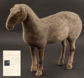 Chinese Han Dynasty Pottery Horse