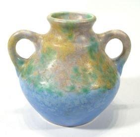 Two Handled Beswick Art Deco Style Vase, Decorated