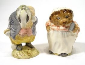 Two Hand Painted Beswick Beatrix Potter Figures, T