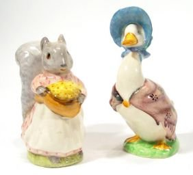 Two Hand Painted Beswick Beatrix Potter Figures, G
