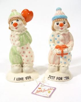 Two Hand Painted Beswick Little Loveable Clowns, P