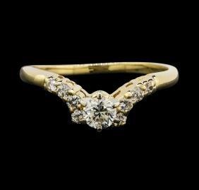 14KT Yellow Gold 0.55ctw Diamond Ring
