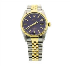Mens Rolex Two Tone Stainless Steel And 18k Yellow Gold