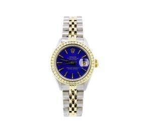 Ladies Two-tone Rolex Datejust Watch With Diamond Bezel