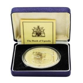 1981 Uganda 4 Oz. Silver 500 Shillings Proof Pearl Of