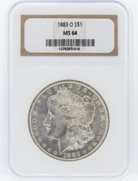 1883-o Ngc Ms64 Morgan Silver Dollar