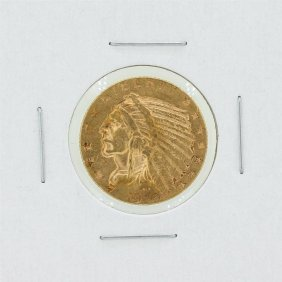 1910-s $5 Xf Indian Head Gold Coin