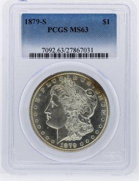 1879-s Morgan Silver Dollar Coin Pcgs Graded Ms63