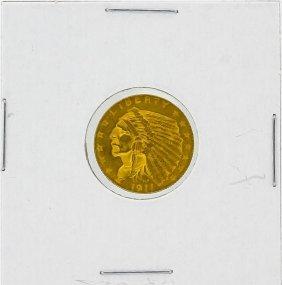 1911 $2.5 Au Indian Head Gold Coin
