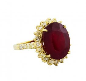 14kt Yellow Gold 12.64ct Ruby And Diamond Ring